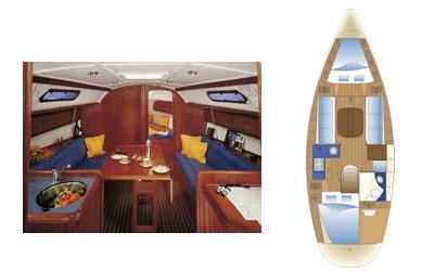 Bavaria 32 below decks and layout